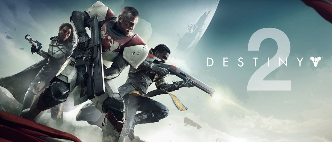 The Destiny 2 official poster - soldiers entering a battle.